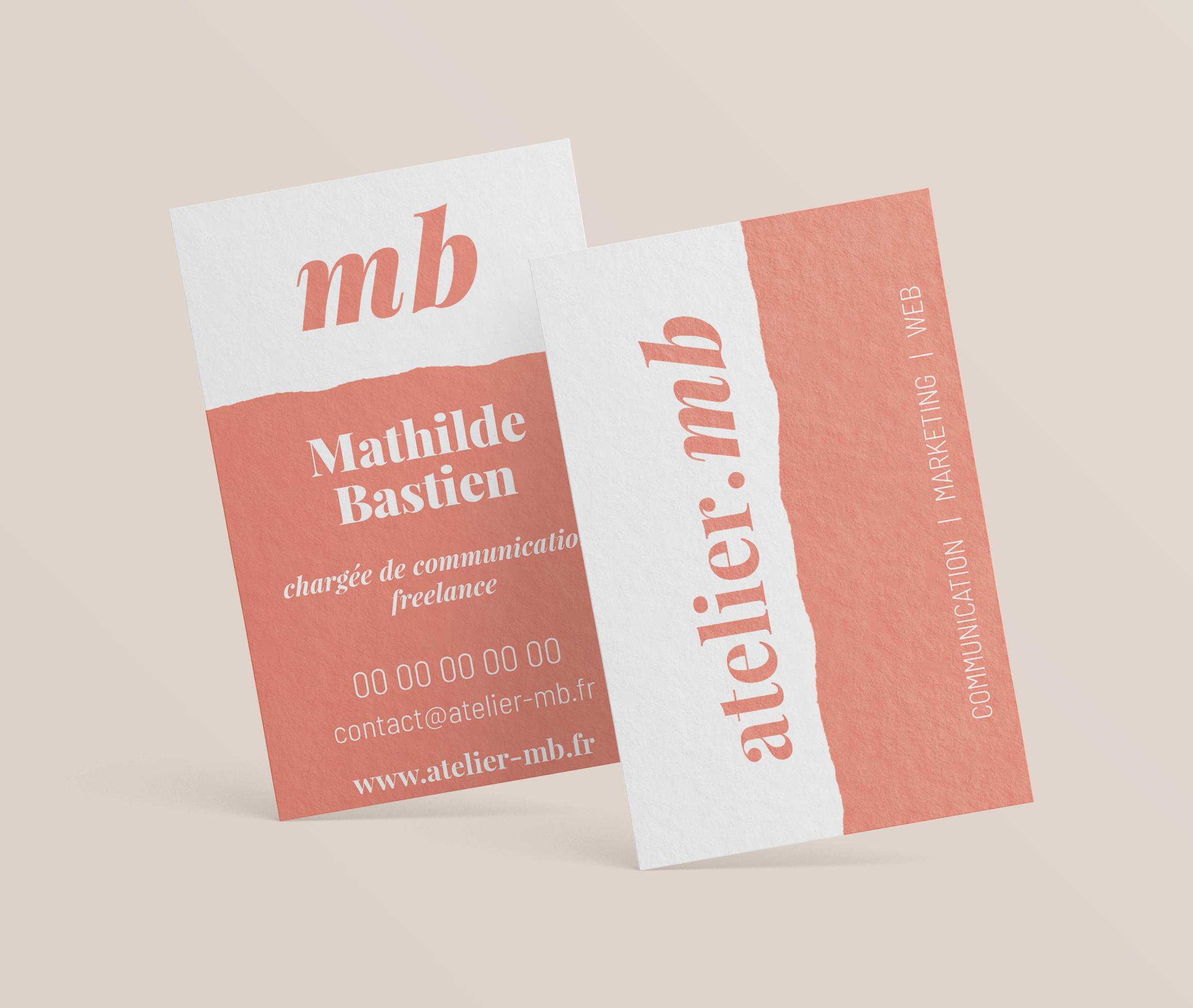 Cartes de visite Atelier MB
